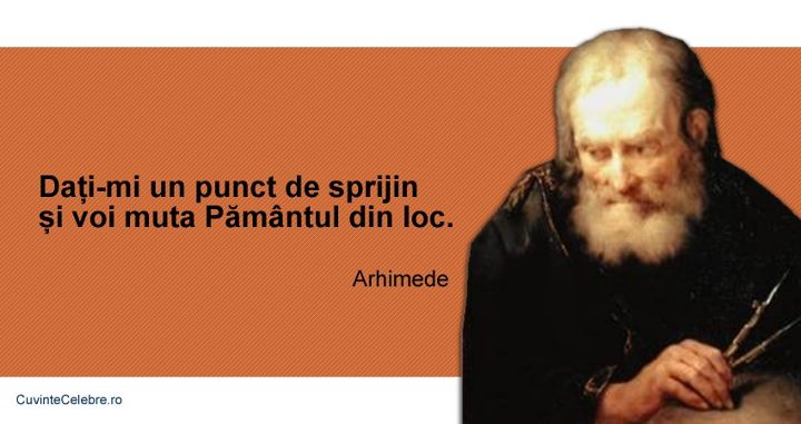 citate despre sprijin Citate de Arhimede citate despre sprijin