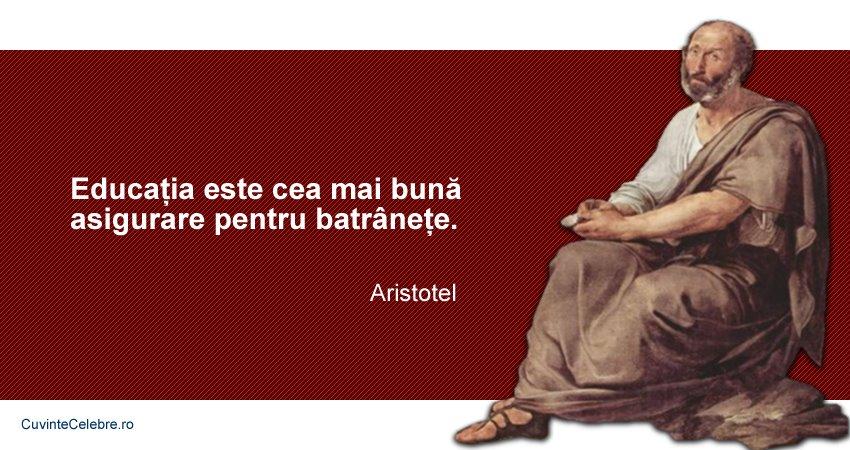 citate celebre despre asigurari Educația bună aduce pensia mare, citat de Aristotel citate celebre despre asigurari