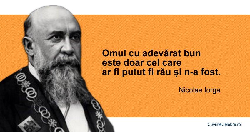 citate despre rau Ce îl deosebește pe omul bun de cel rău?, citat de Nicolae Iorga citate despre rau