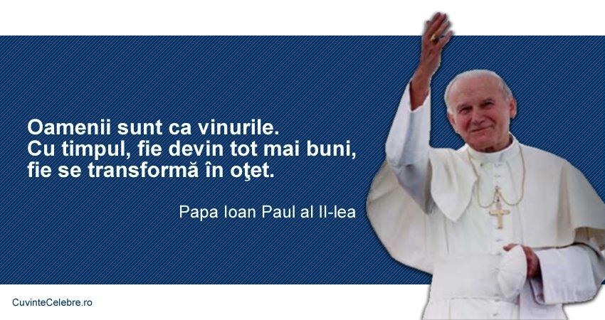 Citat Papa Ioan Paul al II-lea