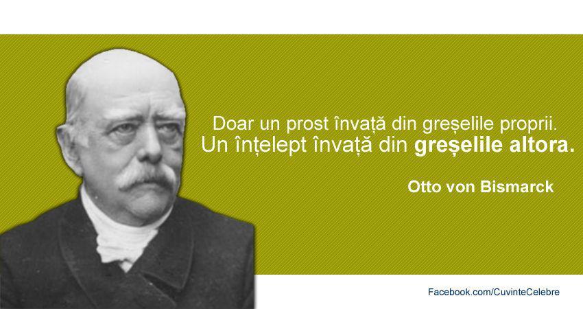 Citat de Otto von Bismarck