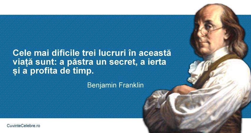 Citate Benjamin Franklin