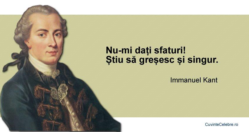 Citate Immanuel Kant
