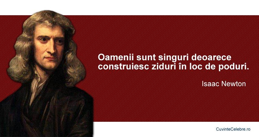 Citate Isaac Newton