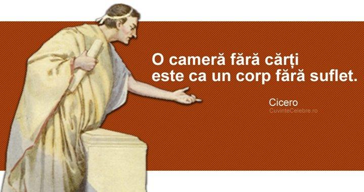 cicero citate Sufletul cărților, un citat de Cicero cicero citate