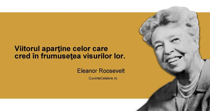 despre viitor citate Viitorul este al visătorilor, citat de Eleanor Roosevelt despre viitor citate