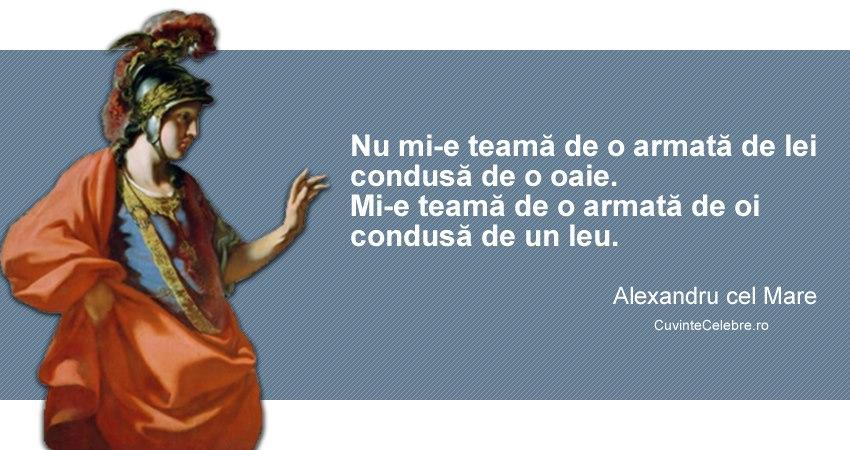 Citat Alexandru cel Mare