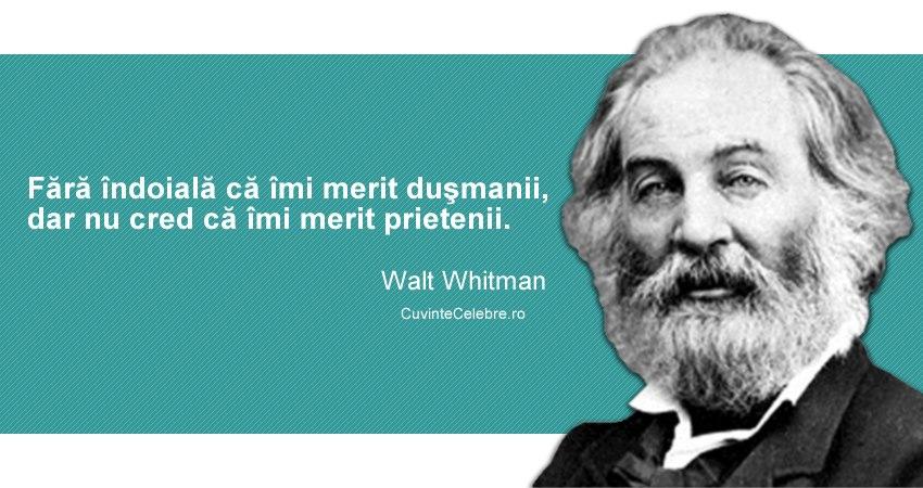 Citat Walt Whitman