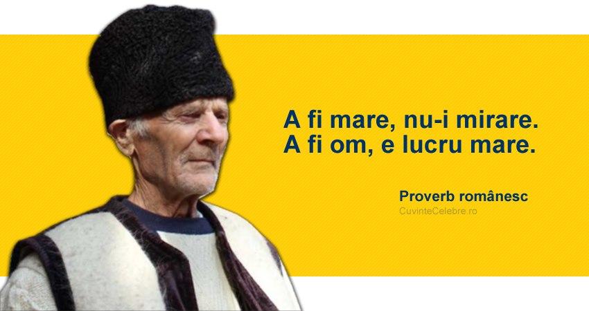 Proverb romanesc