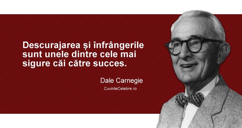 citate despre motivatie Înfrângerile ne motivează, citat de Dale Carnegie citate despre motivatie