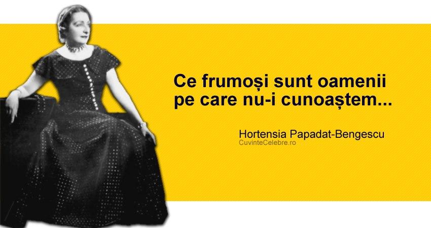 Citat Hortensia Papadat-Bengescu