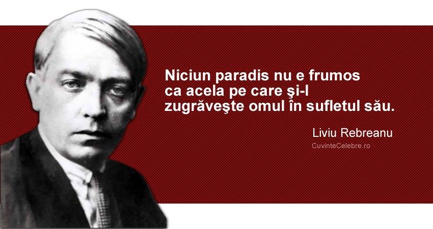 Citat  Liviu Rebreanu