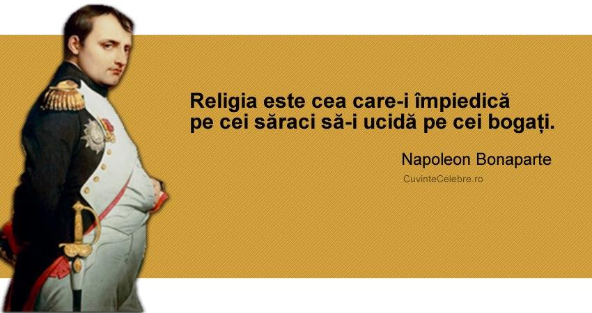 Citaten Napoleon : Citate celebre despre religie