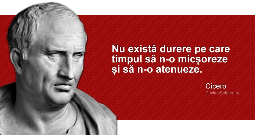 """""""Nu există durere pe care timpul să n-o micșoreze și să n-o atenueze."""" Cicero"""