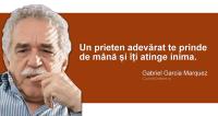 """""""Un prieten adevărat te prinde de mână și îți atinge inima."""" Gabriel Garcia Marquez"""