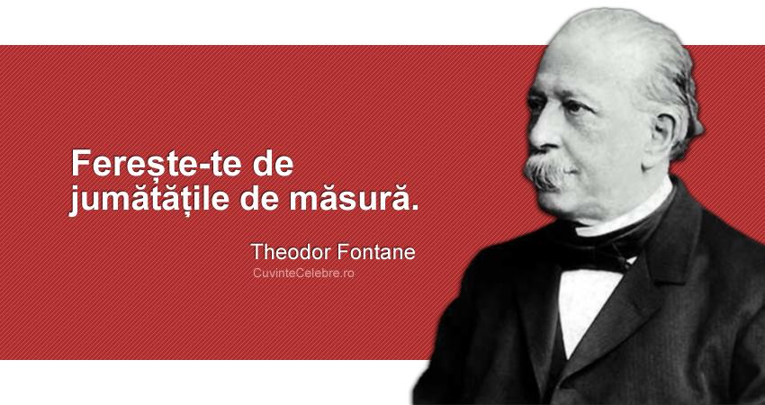 """""""Ferește-te de jumătățile de măsură."""" Theodor Fontane"""