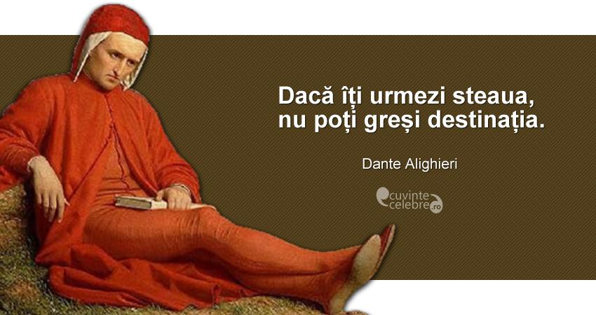 """""""Dacă îți urmezi steaua, nu poți greși destinația."""" Dante Alighieri"""