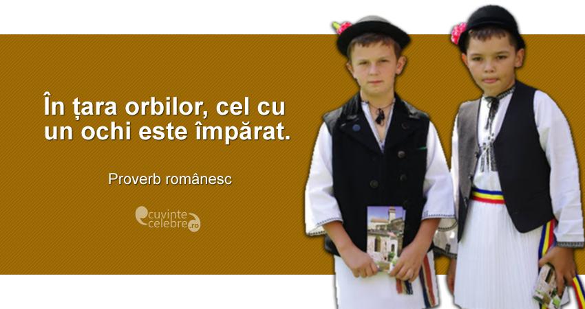 """""""În țara orbilor, cel cu un ochi este împărat."""" Proverb românesc"""