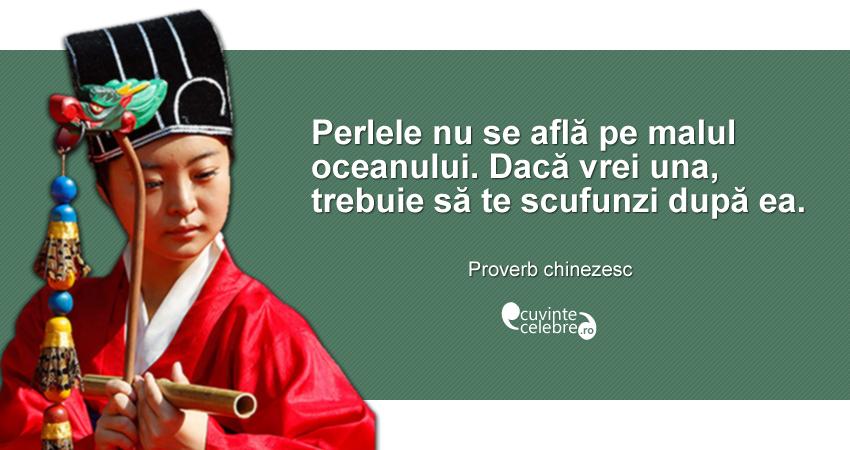"""""""Perlele nu se află pe malul oceanului. Dacă vrei una, trebuie să te scufunzi după ea."""" Proverb chinezesc"""
