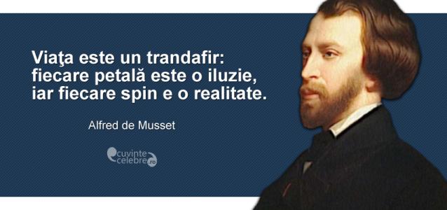 """""""Viaţa este un trandafir: fiecare petală este o iluzie, iar fiecare spin e o realitate."""" Alfred de Musset"""