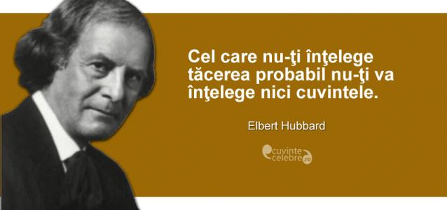 citate despre tacere O tăcere greu de înțeles, citat de Elbert Hubbard citate despre tacere