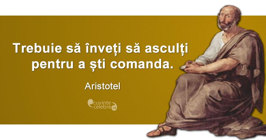 Citaten Napoleon : Prima lecție a conducătorilor citat de aristotel