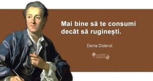 """""""Mai bine să te consumi decât să ruginești."""" Denis Diderot"""