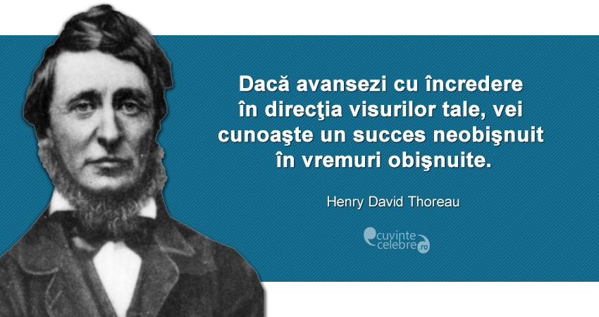 Citaten Succes : Citate henry david thoreau