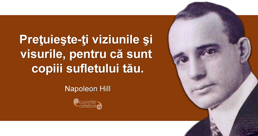 Citaten Napoleon : Visuri de mare preț citat napoleon hill