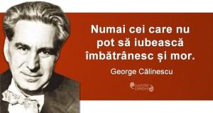"""""""Numai cei care nu pot să iubească îmbătrânesc și mor."""" George Călinescu"""