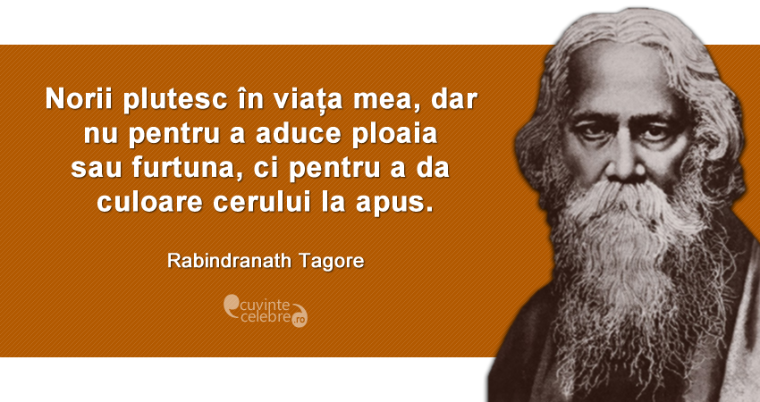 citate celebre despre ploaie Citate de Rabindranath Tagore citate celebre despre ploaie