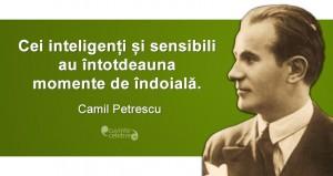 """""""Cei inteligenți și sensibili au întotdeauna momente de îndoială."""" Camil Petrescu"""