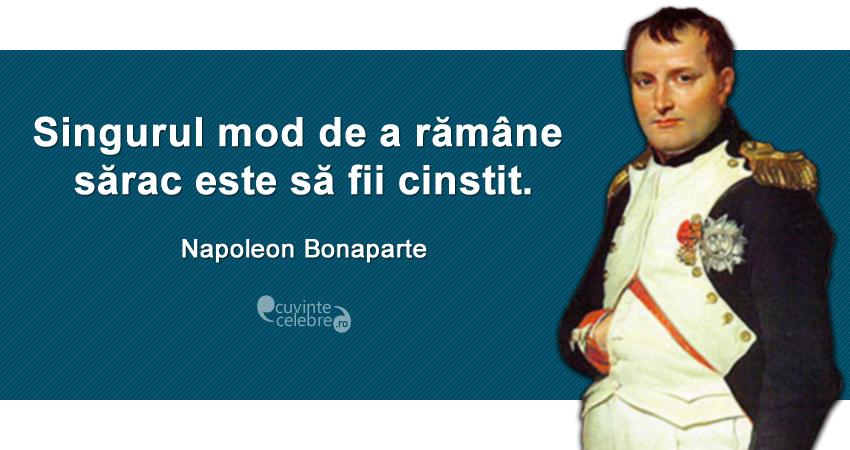 Citaten Napoleon : Citate celebre despre cinste