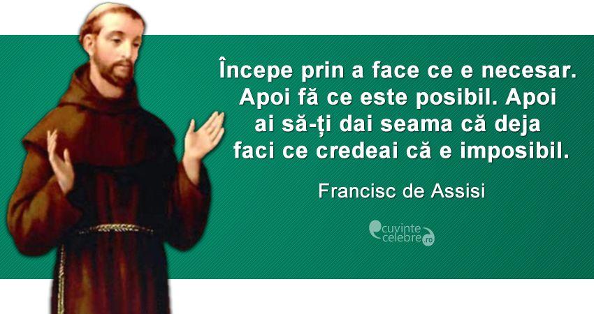 Imagini pentru citate sf francisc de assisi