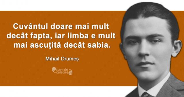 Cuvinte care dor, citat de Mihail Drumeș