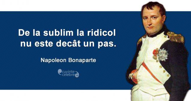 Citaten Napoleon : Un drum scurt citat de napoleon bonaparte