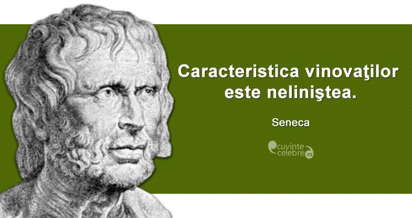 """""""Caracteristica vinovaţilor este neliniştea."""" Seneca"""
