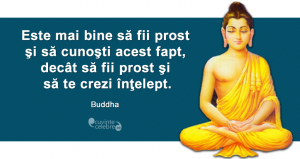 """""""Este mai bine să fii prost şi să cunoşti acest fapt, decât să fii prost şi să te crezi înţelept."""" Buddha"""