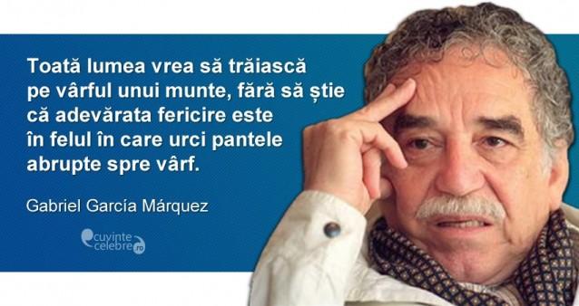 citate despre munte Un munte abrupt, citat de Gabriel Garcia Marquez citate despre munte