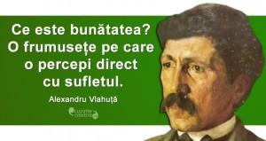 """""""Ce este bunătatea? O frumusețe pe care o percepi direct cu sufletul."""" Alexandru Vlahuță"""