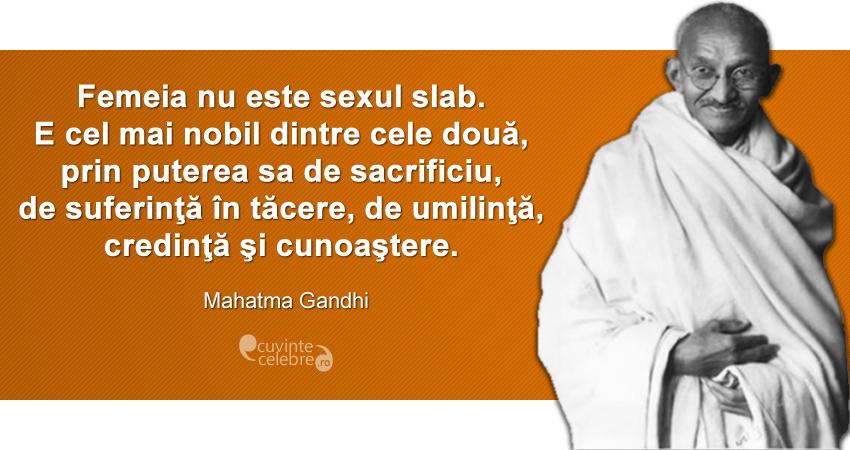 Citat de Mahatma Gandhi