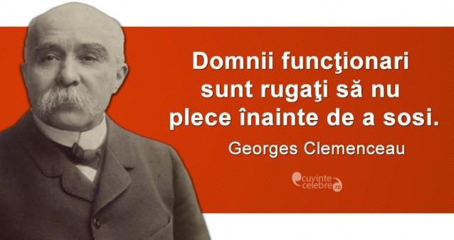 Citat Georges Clemenceau.