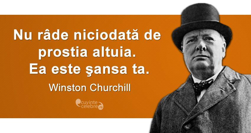 Șansa ta, citat de Winston Churchill
