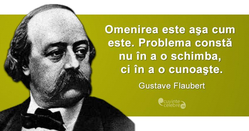 citate despre omenire Ce facem cu omenirea?, citat de Gustave Flaubert citate despre omenire