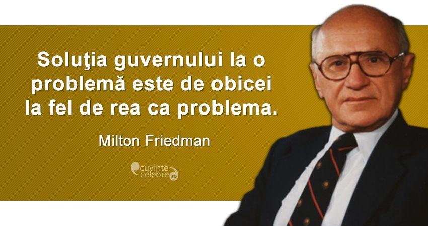 Citat Milton Friedman