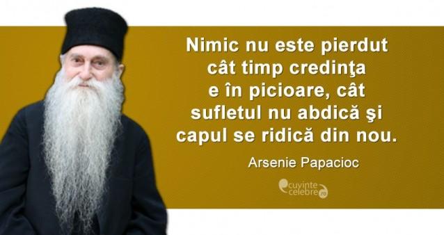 Citat Arsenie Papacioc