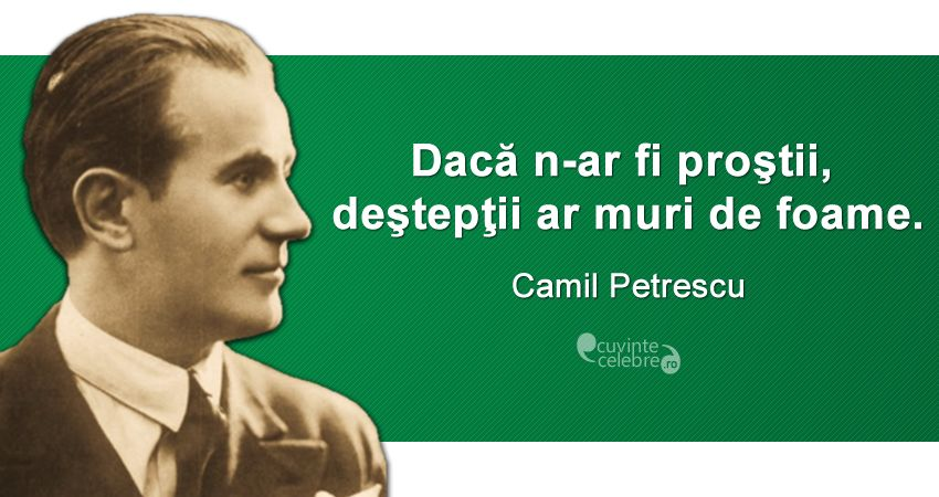 Citat Camil Petrescu