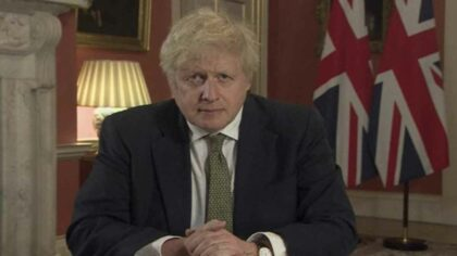 Lockdown in Anglia. Boris Johnson...